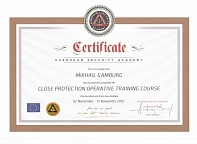 Certificate European Security Academy Mikhail Gamburg 02 November - 15 November 2015
