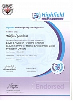 Certificate Highfield Awarding Body for Compliance Mikhail Gumburg 05 March 2016 - 15 March 2016